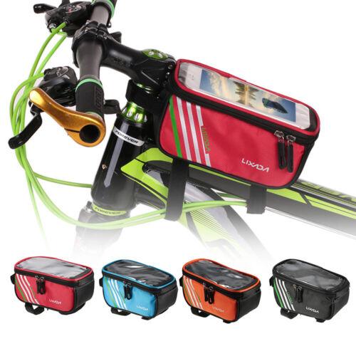 Lixada Cycling Bicycle Bike Front Tube Top Tube Smartphone Bag Bike Frame N2I9