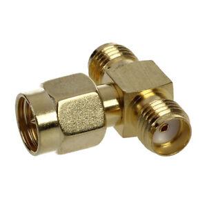 2X-Connecteur-adaptateur-RF-1-SMA-male-vers-2-SMA-femelles-Triple-voies-T-O1R5