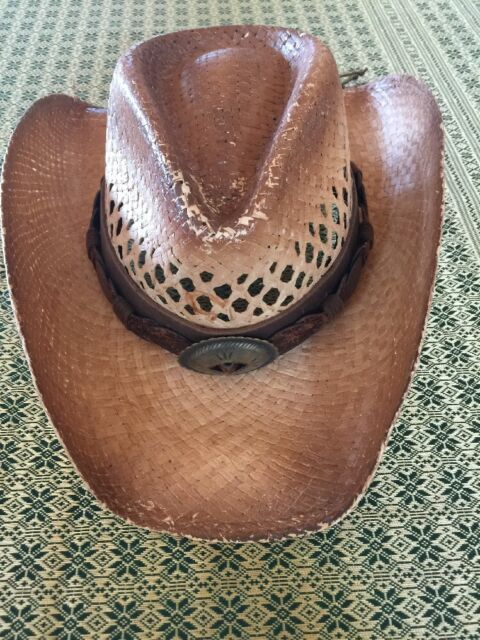 Cowboy Hat Charlie 1 Horse Hat Co. Leather Band Size Small  95e4d02d5f2