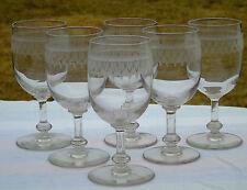 Thouvenin Vierzon? Portieux? Service de 6 verres à eau en verre gravé.