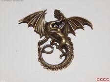 Steampunk badge brooch bronze dragon LARP game of thrones Harry Potter Abzeichen
