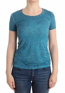 T Scervino shirt Stampa Ermanno Con Nuova Rayon It42 Blu Etichetta Camicetta w1TAqOtxnI