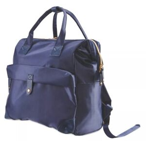 Mamia-Baby-Changing-Backpack-amp-Bottle-Thermal-Holder-amp-Changing-Mat-Navy-Blue