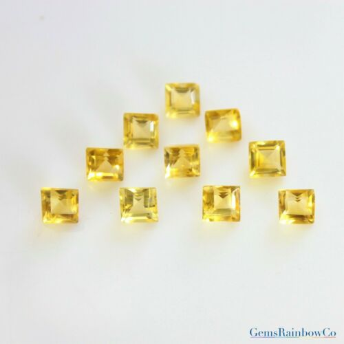 light yellow Details about  /3mm and 5mm Citrine Square Faceted Loose gemstone clearance.