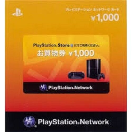 Playstation Network Card 1000 Yen Japan Japanese Psn Psp Vita Ps3