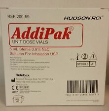Addipak Sterile Saline Solution 09 5ml 100bx 200 59 Ships Fast