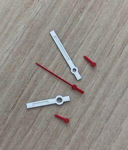 Weiss-Rot-Chronographen-Zeigersatz-Retro-fuer-ETA-Valjoux-7733-NOS-Style
