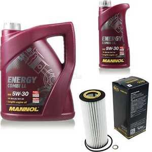 Olwechsel-Set-6L-MANNOL-Energy-Combi-LL-5W-30-Motoroel-SCT-Filter-KIT-10190659