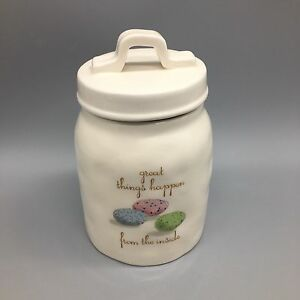 Rae-Dunn-Artisan-Canister-Sugar-Jar-Treats-Candy-Speckled-Easter-Eggs-Spring-NEW