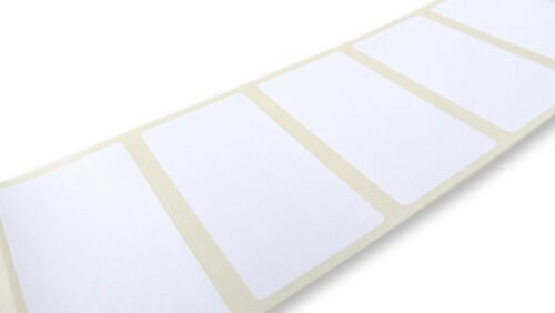 25MM X 50MM WHITE PAPER LABELS PACK OF 100 THERMAL TRANSFER LABELS