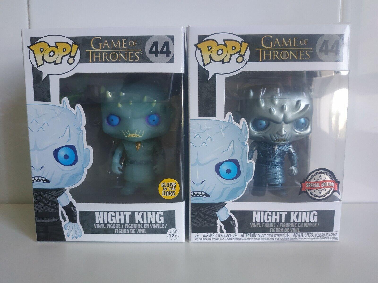 Funko pop Night King Metallic &Glows-Pack 2-Game of thrones Exclusives-VER FOTOS