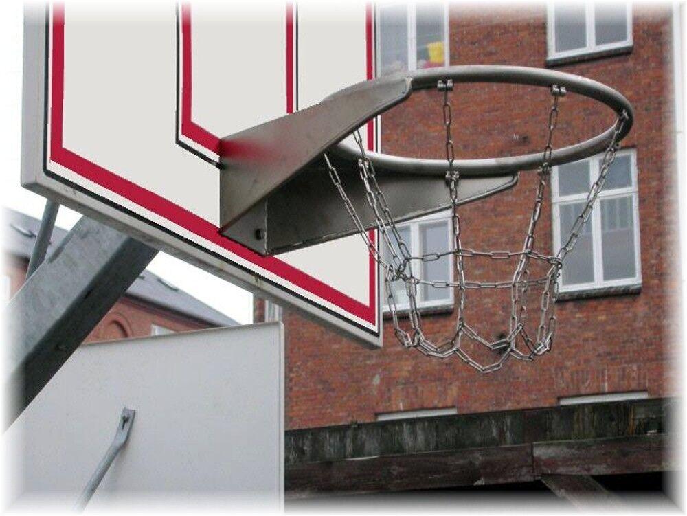 Basketball Basketballkorb Basketballkorb Basketballkorb mit Netz Edelstahl AISI 304 Kettennetz LoggyLand Neu 7ea078
