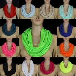 NEU 18 Farben Loopschal Rundschal Schlauchschal Schal Tuch Halstuch Damen Mode