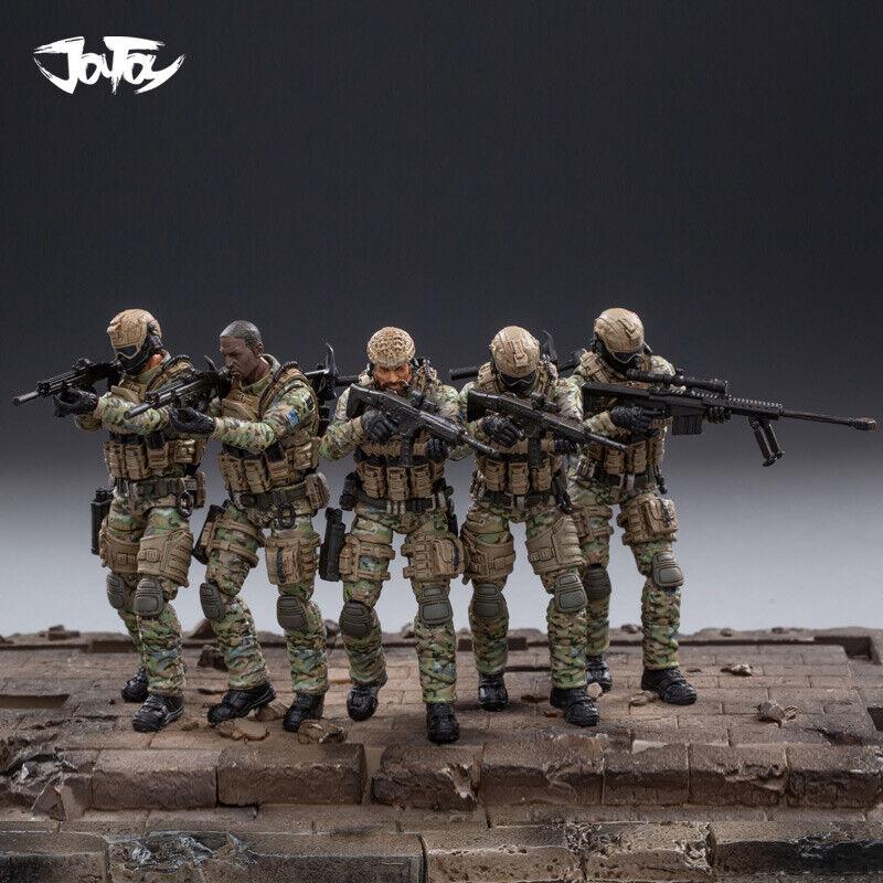 JOYTOY jtus 004 1 18 escala Regimiento de Caballería del ejército de Estados Unidos 5 Figuras Conjunto De Regalo De Colección