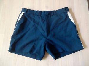 Vintage 80`s Rodeo Tennis Shorts Oldschool Sport Pants Blau Sporthose 98 S/m Reine WeißE