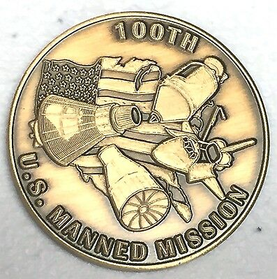 100th MANNED MISSION N615    LIMITED EDITION  NASA  SPACE  COIN MEDAL