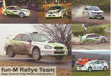 Carte postale Postcard SUBARU FUN M RALLY WRC ALLEMAGNE 2013