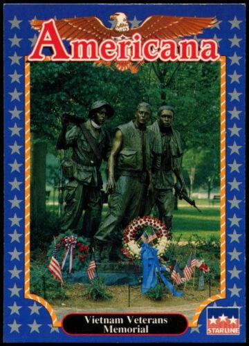 Vietnam Veterans Memorial #185 Americana Starline 1992 Trade Card C265