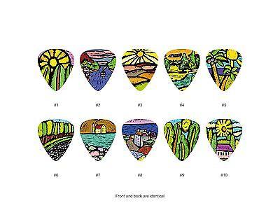 Landscapes Drawing Guitar Pick Set (10pcs)