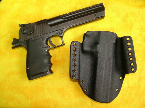 HOLSTER BLACK CARBON KYDEX FITS DESERT EAGLE 357 44 MAG 50 AE CAR MOUNTABLE