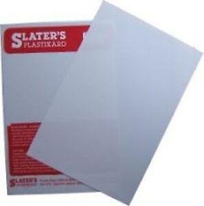 """Slaters 0160 - 1 x 0.060"""" (1.5mm) x 330mm x 220mm White Plastikard Sheet 1stPost"""