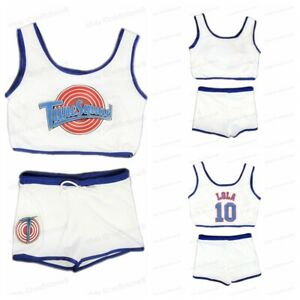 Space Jam Tune Squad Lola Basketball Jersey with Shorts Girls Ladies Suit