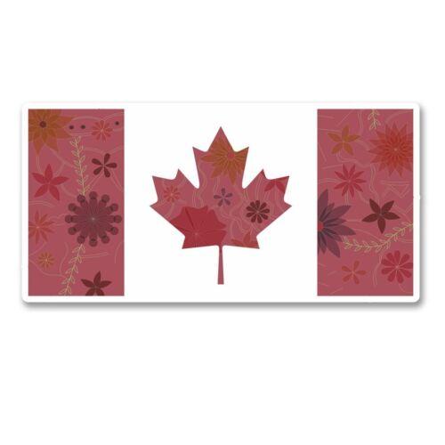 2 x Canada Canadian Flag Vinyl Sticker Laptop Travel Luggage Car #6121