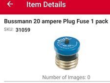 Bussmann Buss 20 Amp 125v Plastic Plug Fuse Breaker Time Delay Mb 20 Bpmb 20