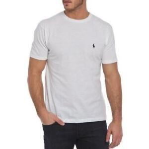 Polo-Ralph-Lauren-Basic-Blanco-Tee-T-Shirt-Small-S-Para-hombre-BNWT-HB13-PVP-45