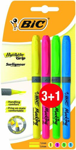 Rotuladores fluorescentes multicolor 3+1
