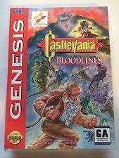 Castlevania Bloodlines - Sega Genesis - Replacement Case - No Game