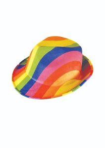 FANCY DRESS RAINBOW COWBOY HAT GAY PRIDE ADULTS FELT PACKS OF 1//2//3//4