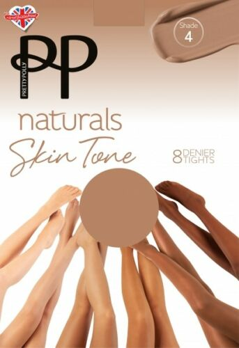 PRETTY POLLY Stumpfhose Skin Tönes 6 Farben OneSize PN AVH5
