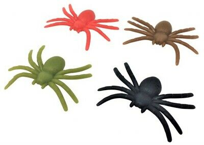 Packets of Plastic Spiders PARTY BAG FILLER FAVOR PRIZE BOYS GIRLS BIRTHDAY