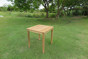 teak tisch massiver tisch 80x80 ebay. Black Bedroom Furniture Sets. Home Design Ideas