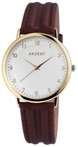 Akzent-Herrenuhr-Silber-Braun-Gold-Analog-Kunst-Leder-Armbanduhr-XSS7204000009