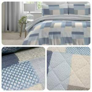 Dreams-amp-Drapes-BOHEME-Blue-100-Brushed-Cotton-Duvet-Cover-Set-Bedspread