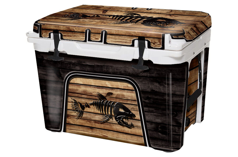USATuff fits Custom Cooler Decal Wrap fits USATuff YETI Tundra 105qt FULL Bonefish WD 12657c