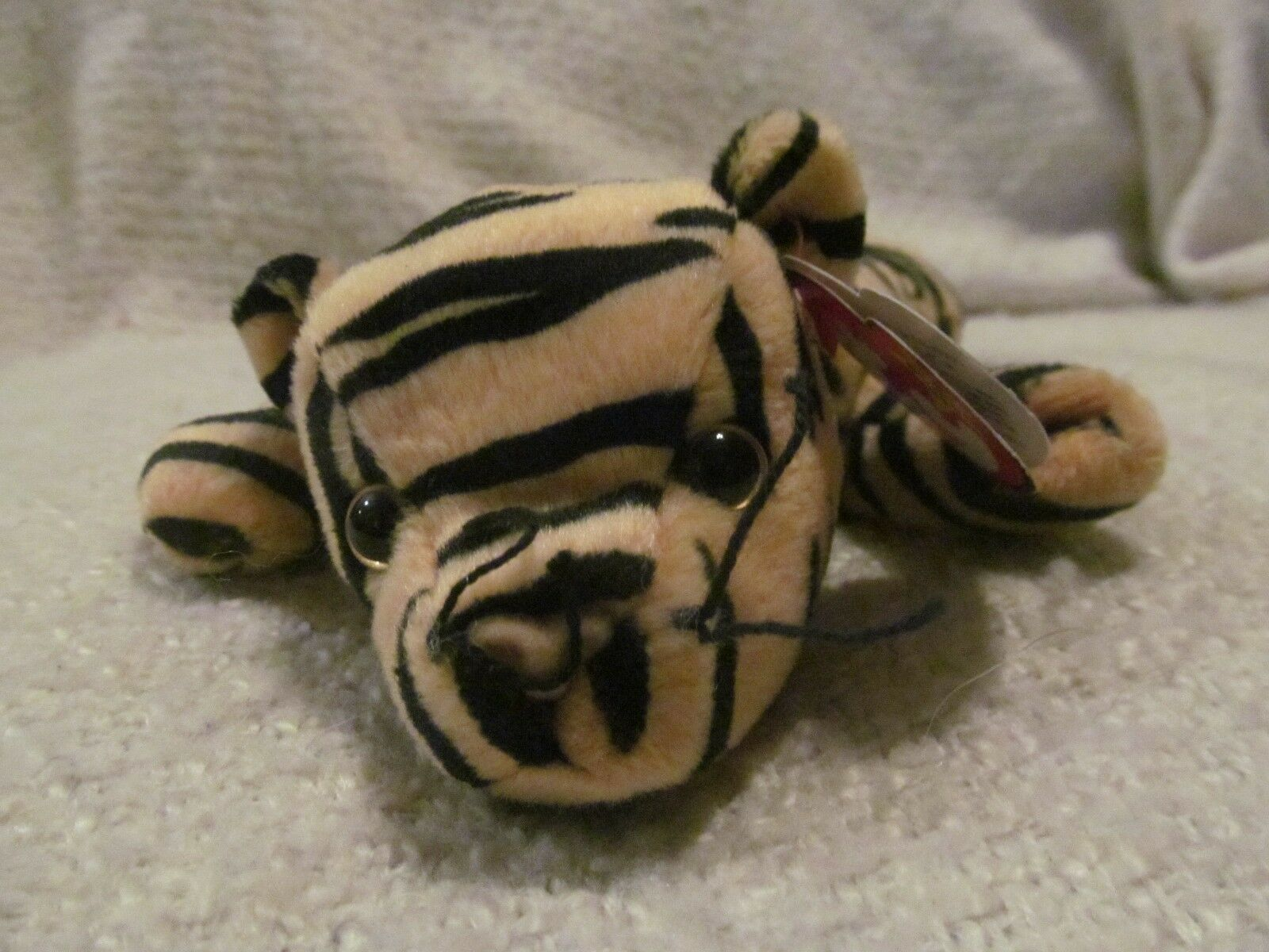TY BEANIE BABIES - STRIPES -RETIRED-WITH TAG ERRORS-GREAT CONDITION