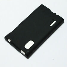 Black Gel TPU Matte Case Skin Cover for LG Optimus L5 / E610 / E612 / LGE610