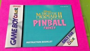 Little Mermaid Pinball - Nintendo Game Boy Color Instruction MANUAL ONLY No Game