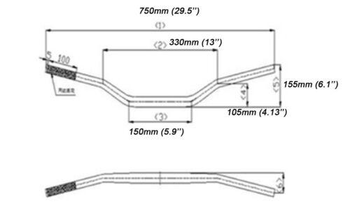 """7//8/"""" Aluminum Handle Bar For KLX 110 DRZ110 KX 65 DRZ RM65 Honda Pit Dirt Bike"""