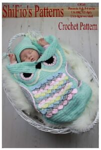 CROCHET-PATTERN-OWL-COCOON-PAPOOSE-amp-HAT-3-SIZES-245-NOT-CLOTHES