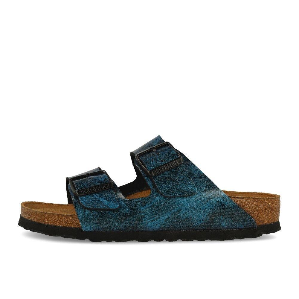 Birkenstock arizona SFB Bf Iride strong Blue sandalias sandalias brillo azul