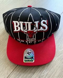4a034794f3ee 47 Chicago Bulls Snapback Hat Adjustable Black Red Pinstripe Michael ...