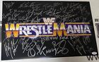 Hulk Hogan Shawn Michaels Bret Hart+ WWE Wrestlemania Signed 12x18 Photo PSA/DNA