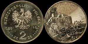 Pologne. 2 Zloty. 2010 (Pièce KM#Y.732 Neuf) Grandes Batailles-Grunwald, Kłuszyn