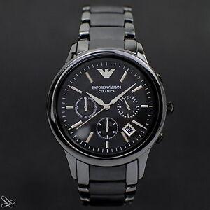 Emporio-Armani-Reloj-Hombre-Cronografo-AR1452-Ceramica-Negro