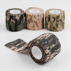 5cm*4.5m Waterproof Camo Wrap Hunting Camping Hiking Camouflage Stealth Tape