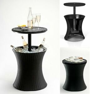 Keter Cool Bar Pacific Grey Rattan Style Outdoor Ice Cooler Party